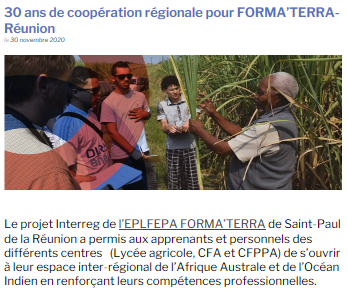 On parle de nous_PORTAILCOOP_MAA_30ans_Cooperation_Formaterra_